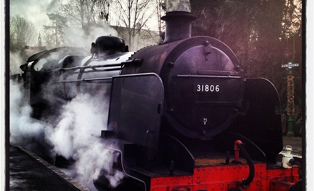 Santa on a Steam Train time. #steam #watercressline #locomotive #santaspecial