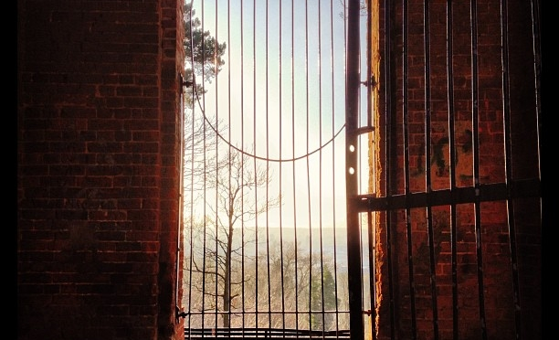 The Cage on the Hill #camberley #obelisk #winter