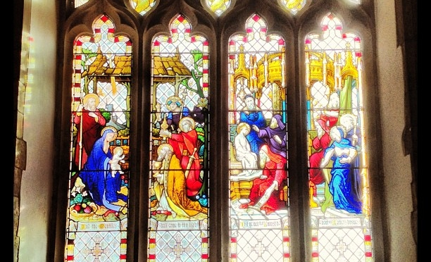 The Nativity Window #stjames #finchampstead #nativity