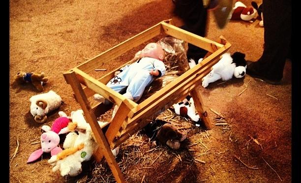A bit of a riot in Bethlehem. #stjames #finchampstead #nativity