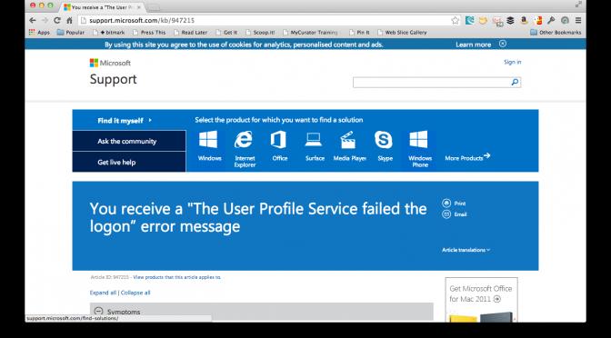 The Case of the Vanishing Windows 7 User Profile